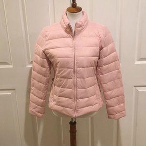 Ann Taylor Loft light pink puffer coat